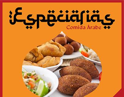 Template para Delivery de Comida Árabe Fictício