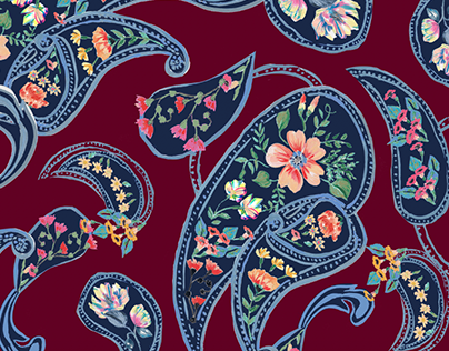 Estampa Painterly Paisley