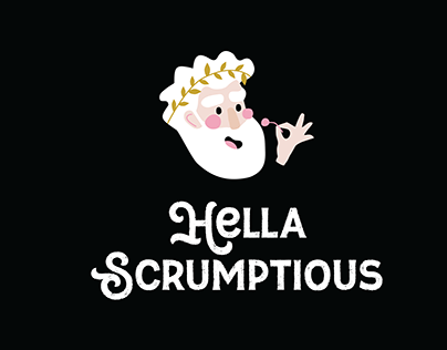 Hella Scrumptious branding