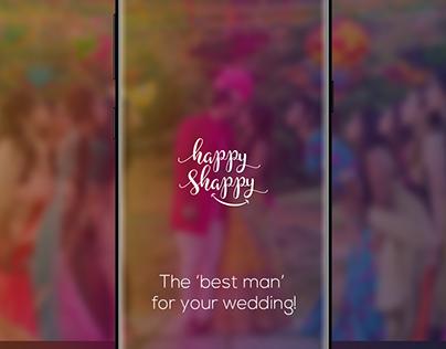 Happy Shappy - Wedding planner mobile app design