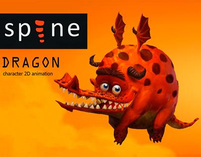 Dragon. Character 2D animation