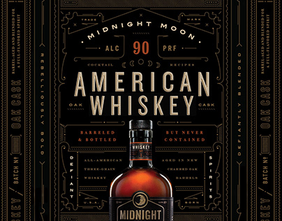 Midnight Moon Whiskey Branding & Packaging