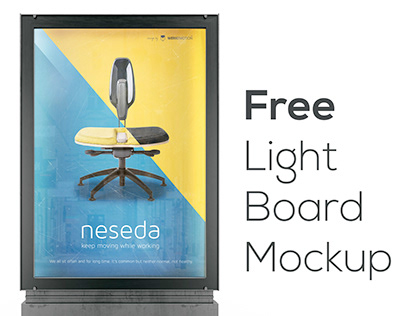 Free Light Board Mockup