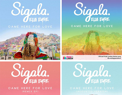 Sigala ('Came Here For Love' - Official Single Artwork)