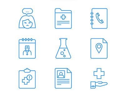 Website concept. Medoteka - service for medical staff.