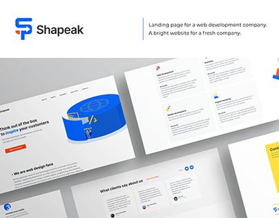 Design for new web dev company