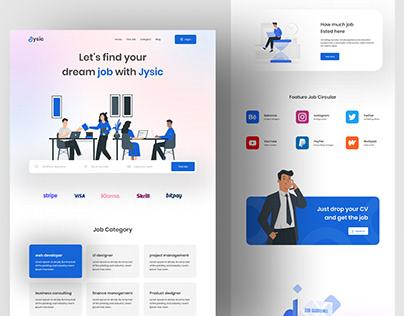 Job landing page design
