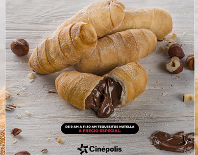 Tequesitos con Nutella