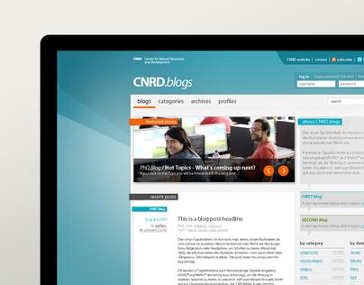 CNRD blogs - web design