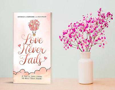 Love never fails book cover design