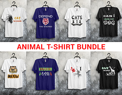 Animal t-shirt bundle
