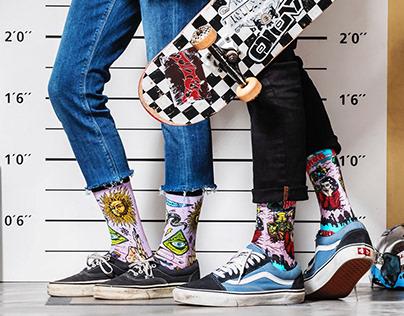 Illustrations for Burlington Socks