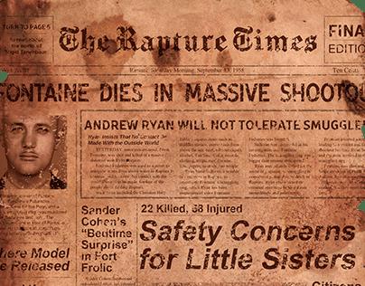 BioShock Movie Newspaper