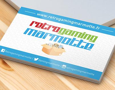 """Carte de visite """"Retrogaming Marmotte"""""""