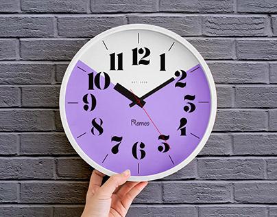 Free Wall Clock Mockup PSD