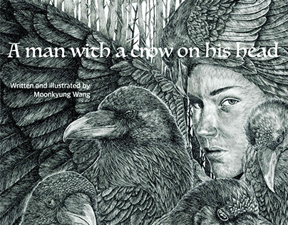 Picture Book -A man with a crow on his head-