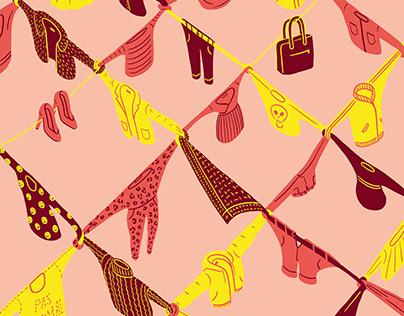 Fashion Network Annual Report Illustration