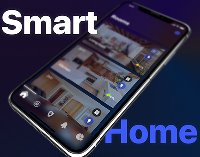 Smart house interface (IOS mobile app UI / UX design)