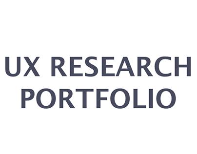 UX Research Portfolio 2018