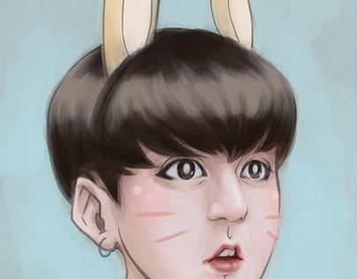 Jungkook Bunny Fan Art