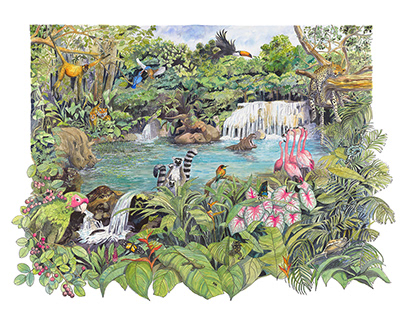 tropical jungle illustration