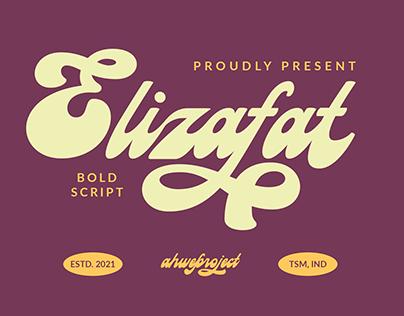 Elizafat - Bold Script Font