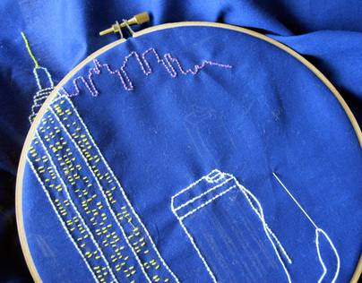 Creating NYC embroidery - behind the scenes