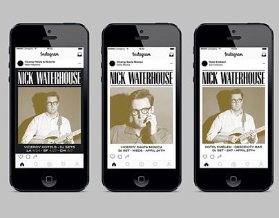 Nick Waterhouse - DJ Tour/Hotel Partnership