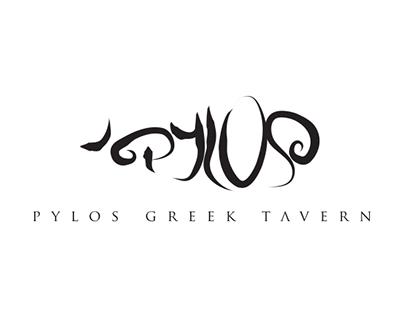 Pylos Greek Tavern Logo Design