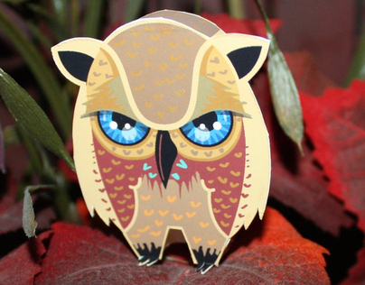 Owls and Bats - Paper Toys