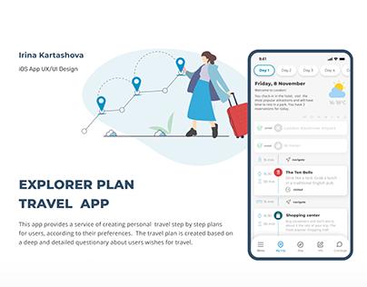 EXPLORER PLAN. Travel app