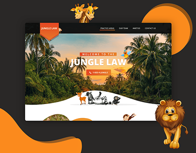 Jungle Law Landing Page