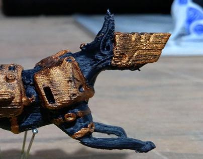 Mech Dog 3d Printed