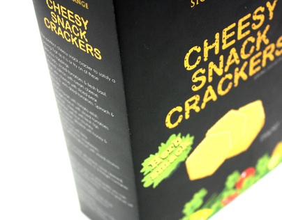 Package Design - Remake of SR cheesy crackers 250g pack