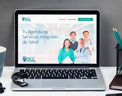 Agenda Vital: Sitio Web - Brochure