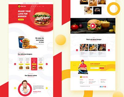 Burger Shop Landing Page Design