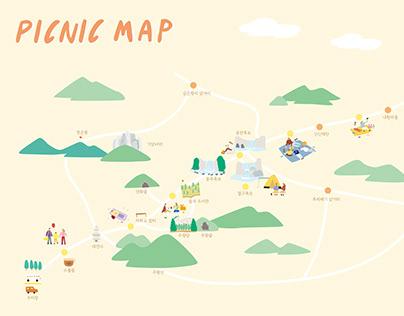 PICNIC MAP OF JUWANGSAN NATIONAL PARK