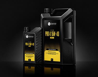 Daytona Lubricants - Oil packaging - Packaging redesign