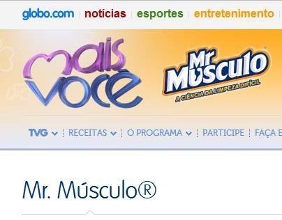 TV Globo | Mr. Músculo®