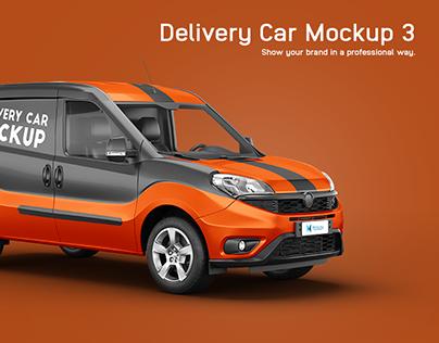 Fiat Doblo Delivery Car Mockup