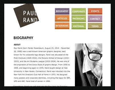 Paul Rand web site