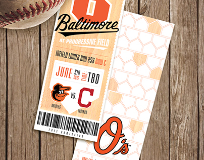 Custom Made Baseball Ticket