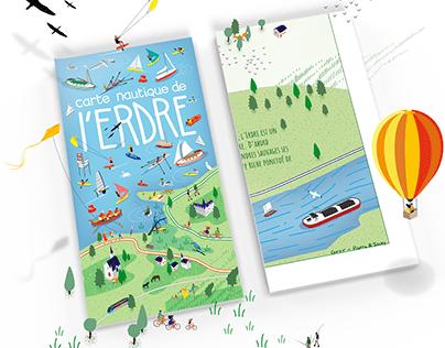 "Carte ""amoureuse"" de l'Erdre - Map of Erdre - Nantes"