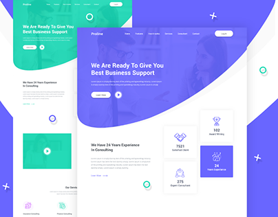Proline - Business Consulting Landing Page