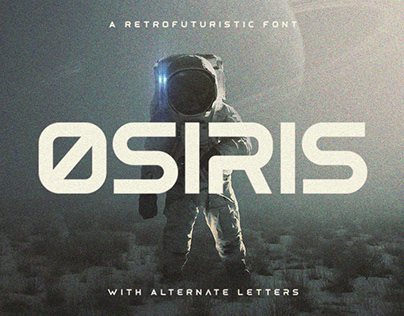 Osiris - Retrofuturistic Font