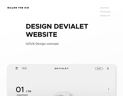 Devialet Website concept