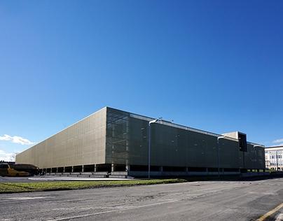 Multi-storey car park and bus dock