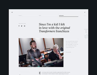 Steve Jablonsky Website Concept