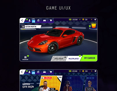 Racing Fever 2 Game Ui/Ux