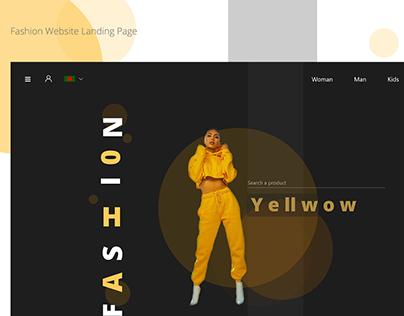 Fashion Website Landing Page (Dark Ui)